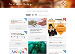 Social Media Mashup made by Online-Werkstatt